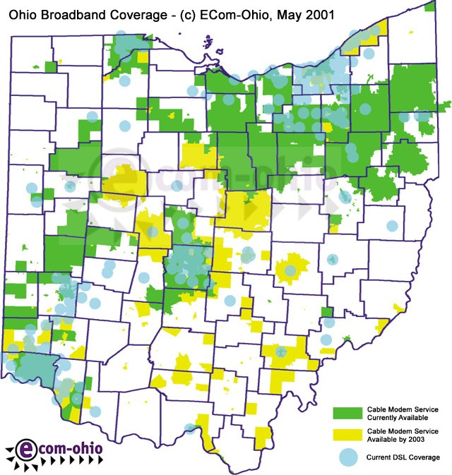 New Ecom-Ohio Broadband Availability Map from TPG | Ohio ... on