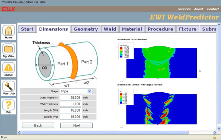 Eweld Portal Screenshot