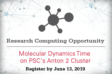 Research Computing Opportunity: Molecular Dynamics Time on PSC's Anton 2 Cluster. Register by June 13, 2019