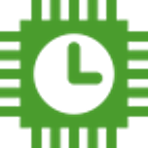 clock in hands icon