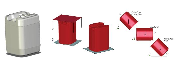 Plastic container simulation