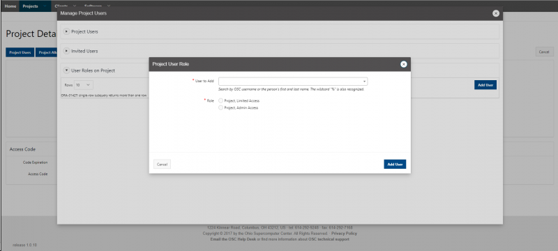 Screenshot of the Client Portal displaying the above text