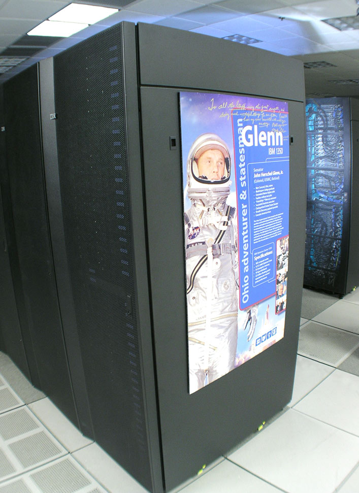 Photo: Image of the Glenn supercomputer