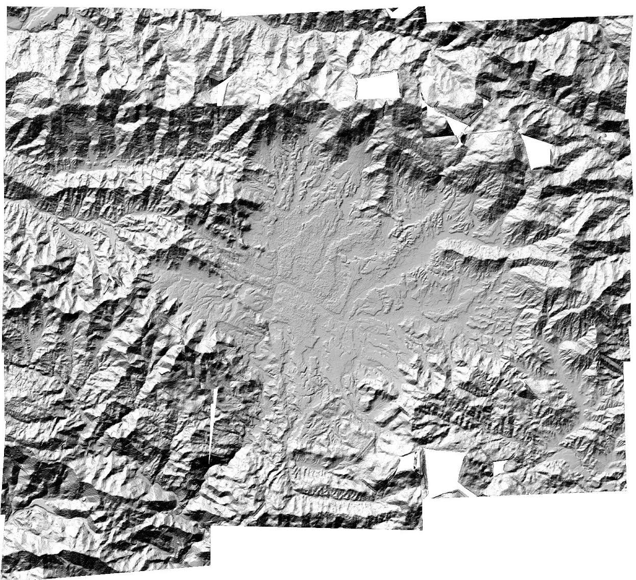 Satellite imagery of Nepal