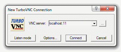 New TurboVNC Connection